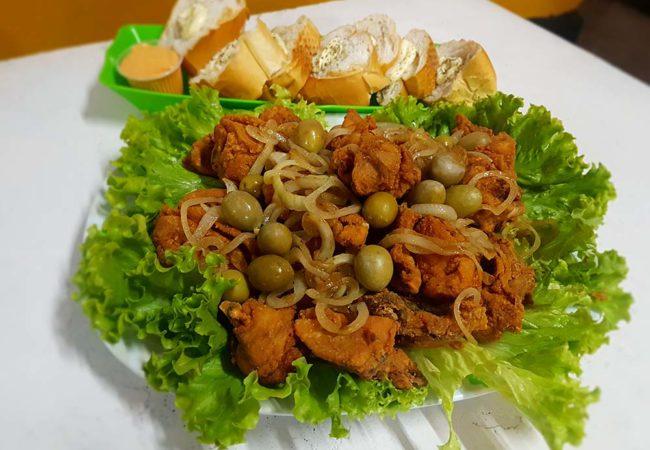 Porção de frango a passarinho do Portal Lanches (Crédito da foto: Mirassol Conectada)