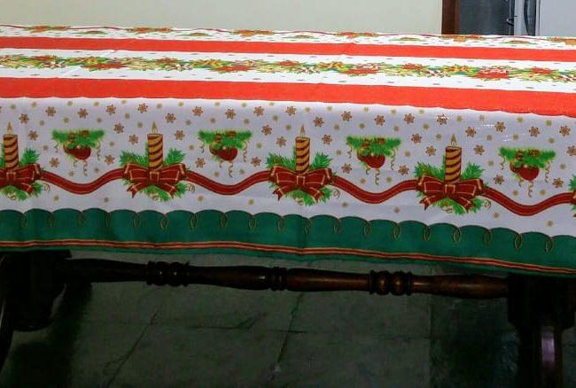 guia de natal - cidinha toalha de natal