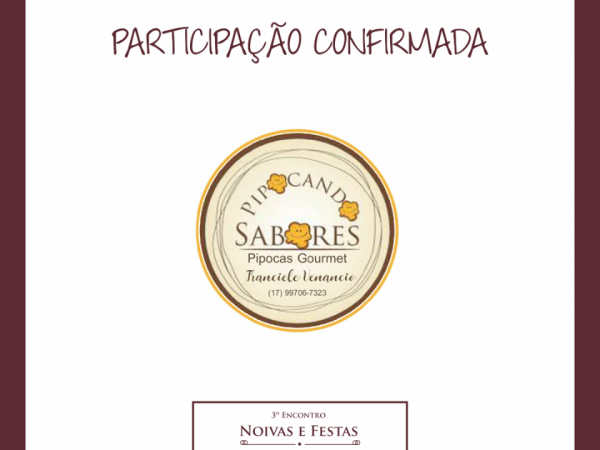 NOIVAS E FESTAS PIPOCANDO SABORES